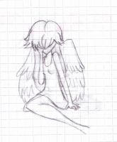 Fallen Angel - Sketch by SariDxCxoxoPrincess