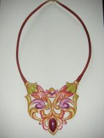 Leather necklace by glee72