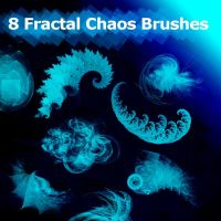 8 Fractal Chaos Brushes by XResch