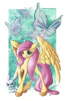 Fluttershy and Angel by ParkerLeif
