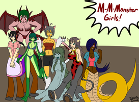 Many Monstergirls by DoodleDowd