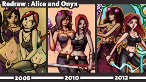 Alice and Onyx Redrawn by LangleySerina