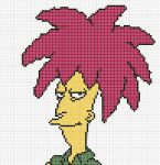 Sideshow Bob Perler bead pattern by felineattraction