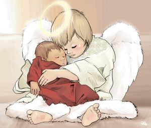 Baby's Guardian Angel by Sabtastic