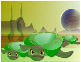 Turtle Planet by bluedecker97