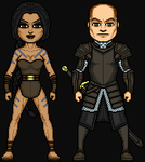 The Khal and The Prisoner Alternate Outfits by HenshinDaisuke
