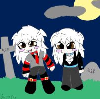 Gothic chibi Ryou brothers by spike-the-cat