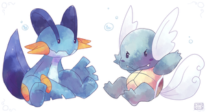 [Pokeddexxy] Day 18 - Swampert and Wartortle by ChocoChaoFun