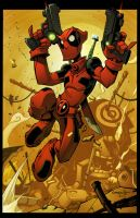 Deadpool Junkyard Jump by Red-J