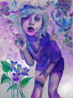 purple indigo violet by flowwwer