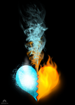 ice and fire heart by NaViGa7or