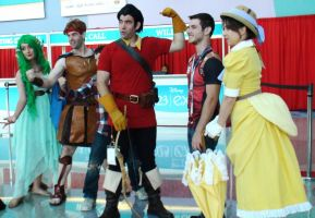 Jane, Hercules, Gaston, and Mother Nature at D23 by trivto