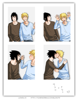 SasuNaru photobooth by MlleLowra