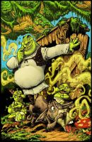 Shrek Comic 1: Color cover. by RoloMallada