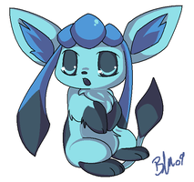Glaceon. by BrandiMuffin
