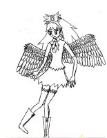Winged Girl by Monochrome-Colors
