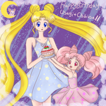 SM - Usagi and Chibiusa birthday 2014 by iTiffanyBlue