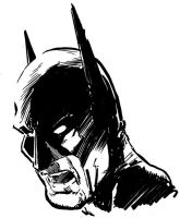Batman Head Sketch by aminamat
