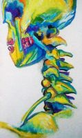 Oil Pastel Skeleton by Malicious-Magician
