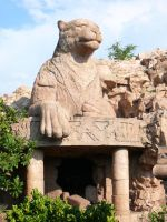 Leopard Statue Guarding Cave by Confussed-Stock