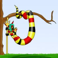 Koralle the coral snake by LuciferDragon