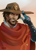 Mccree2 by rushwellart