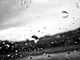 Raindrops are falling down by lailabtonam