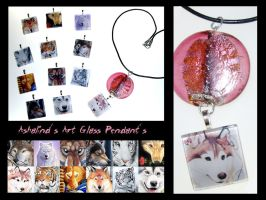 Ashalind's Art Glass Pendants by Ashalind