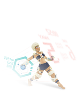Vector Ball Chick by Worldsday
