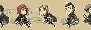 Stickers: Attack on Titan Set 3 by forte-girl7