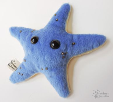 Blue and Gold Starfish Plush by StardustGremlin