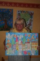 The painter and her newest work by ingeline-art