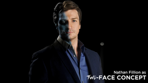 Nathan Fillion as Two Face - CONCEPT by MrSteiners