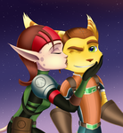 Ratchet and Talwyn: Cheek Kiss by Sofie-Spangenberg