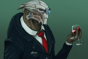 Fancy garrus by FonteArt