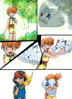 Pokemon Fusion Scene: A Heartwarming Return by hikariangelove