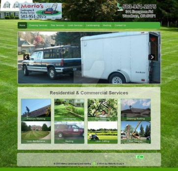 Marios Landscaping and Hauling Services Website by VanFanelSama