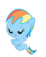 Baby Rainbow Dash by Bronyboy