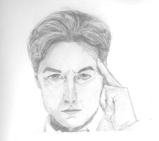 Pencil Drawing: James McAvoy as Charles Xavier by chrissybob777