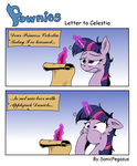 Pownies: Letter to Celestia by SonicPegasus