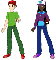 Ralphie and Keesha as pokemon trainers by Dorothy64116
