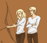 Archery practice by LilyScribbles