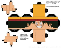 Cubee - Luffy Part 1 by Kurt3x5