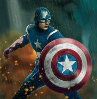 Captain America (the final output) by cLoELaLi11