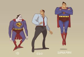 bizarro, clark and superman by mendigo-amigo