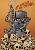 Walter the War Wobot by crazyfoxmachine