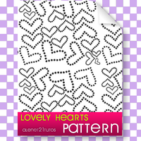 pattern hearts lovely by alenet21tutos