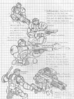 ERS Marine Sketches by eightball6219