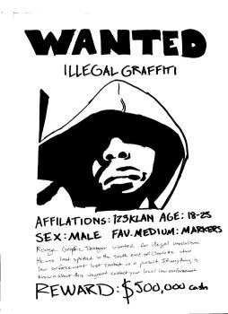 Graffiti wanted poster by CRUX56