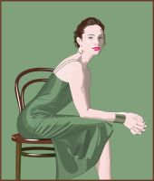 Portrait of a beautiful Woman by hermanmunster